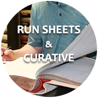 Run Sheets & Curative